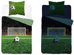 DETEXPOL Obliečky Futbal svietiace Bavlna, 140/200, 70/80 cm