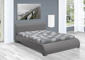 Luxusná posteľ 160x200 cm Seina s úložným priestorom Barva: eko kůže bílá, typ matrace: bez matrace