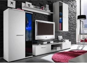 Obývacia stena, biela, DTD laminovaná, SALESA