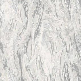 Vliesové tapety na stenu Nubia mramor sivý 19122, rozmer 10 m x 0,53 m, DECOPRINT