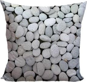 Vankúš Sivé kamienky (Veľkosť: 40 x 40 cm)