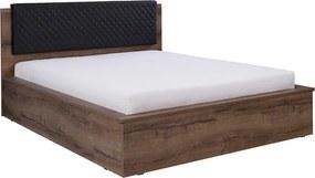 Manželská posteľ s čalúneným čelom 160x200 cm Tamari