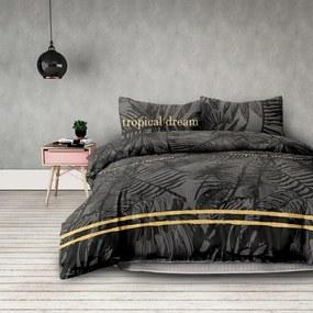 Obliečky z bavlny AmeliaHome Tropical Dream čierne