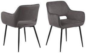 Dizajnová jedálenska stolička Nereida, tmavo šedá