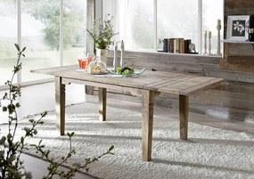 Bighome - CASTLE Jedálenský stôl 140-220x90 cm, palisander