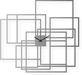 Veľké hodiny na stenu nerezové, 65x60 cm: Pravouholníky | atelierDSGN