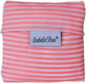 Isabelle Rose Skladacia nákupná taška ružovo biela