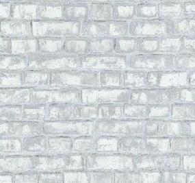 Vliesové tapety, tehla, Easy Wall 1347410, P+S International, rozmer 10,05 m x 0,53 m