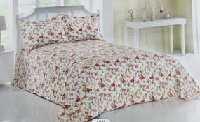 Prehoz bavlnený Vintage rose TiaHome 220x240cm + 2ks 50x70cm