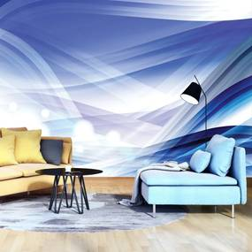 Fototapeta - Modré abstraktné vlny (254x184 cm), 10 ďalších rozmerov