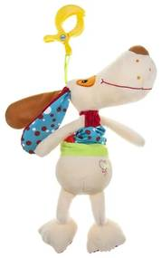 AKUKU Nezaradené Plyšová hračka s hracím strojčekom psíček Béžová  