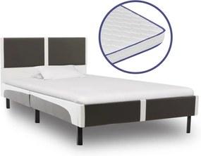 vidaXL Posteľ s matracom s pamäťovou penou 90x200 cm umelá koža