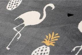 Detský kusový koberec PP Plameniaky sivý, Velikosti 120x170cm
