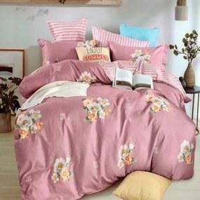 HOD Posteľné obliečky FLOWER PINK 6 set 200x220cm