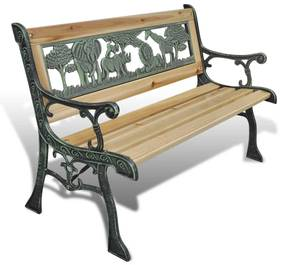 vidaXL Detská záhradná lavička 80 cm, drevo