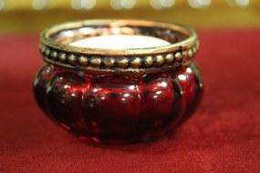 Červené skielka na čajovú sviečku 4-set 6cm