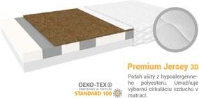 Jaamatrac Turner matrac s kokosom 200x120 Poťah: Premium Jersey 3D