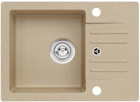 ALVEUS CORTINA 40 granitový drez, 580 x 420 mm, sifón + záslepka, béžová 1653055