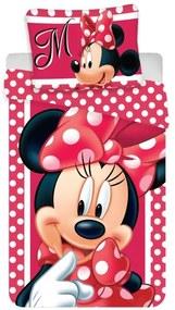 JERRY FABRICS Obliečky Minnie dots Bavlna, 140/200, 70/90 cm