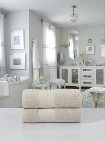 Sada 2 béžových bavlnených osušiek Muller Textiels, 70 × 140 cm