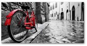 Foto obraz akrylový Červené koleso pl-oa-140x70-f-95275197