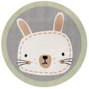 Detský koberec Zala Living Rabbit, ⌀ 100 cm