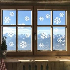 Elektrostatická vianočná samolepka Ambiance Bright White Snow