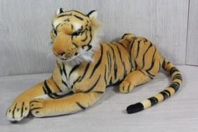 Plyšový tiger - žlto-čierny (24x48 cm)