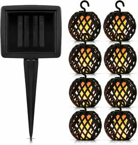 Bezdoteku LEDSolar FireFly solárne reťaz s 8 guľami, IPRO, 1W, teplá farba