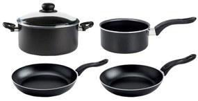 ERNESTO® Súprava hliníkových hrncov a panvíc, 5-dielna súprava (čierna), čierna (100258210)