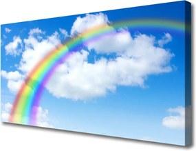 Obraz na plátně Dúha Nebo Mraky Príroda