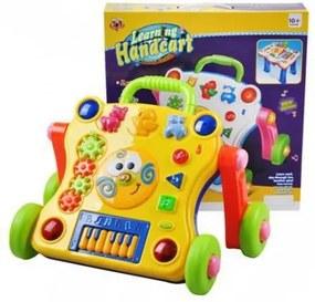 DR Interaktívny hrajúci vozík žltý