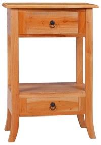 vidaXL Konzolový stolík 50x30x75 cm mahagónový masív