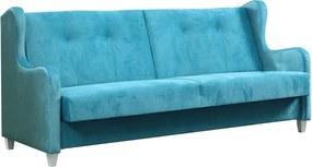 WIP GLAM pohovka+kreslo látka kronos 12 (modrá)