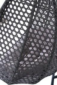 NABBI Dominica závesné hojdacie kreslo sivá