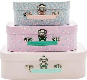 rice Dtský kufrík Pink Rice 3 varianty L