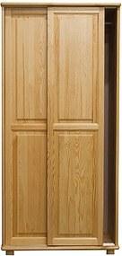 AMI nábytok skříň 2Dč6 šířka 80 borovice věšák
