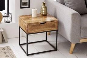 Dizajnový nočný stolík Thunder, 45 cm, mango