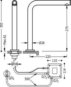 TRES TRONIC Elektronická batérie na 1 vodu TOUCH-TRES, dotyková (161445)