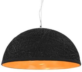 vidaXL Závesná lampa čierna a zlatá Ø50 cm E27