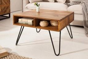 Dizajnový konferenčný stolík Shayla, 60 cm, sheesham