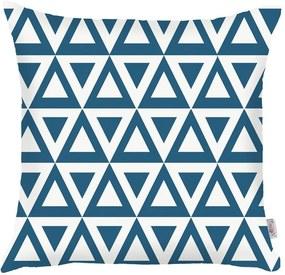 Modrá obliečka na vankúš Apolena Triangle, 43 × 43 cm