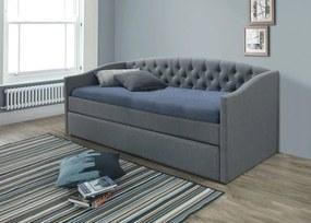 SIGNAL Alessia 90 čalúnená rozkladacia posteľ s prísteľkou sivá