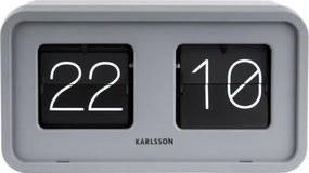 Sivé stolové hodiny Karlsson Bold Flip