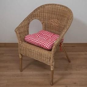 Podložka na stoličku Soft canafas červený