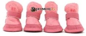 PETOP Zateplené ružové topánky Balu pre psov XS