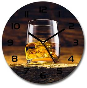Sklenené hodiny na stenu Bourbon v pohári pl_zso_30_f_95142140