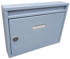schránka poštová (325x240x60mm), max. formát listu: A4, RAL 7040 šedá