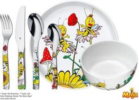 6-dielny detský jedálenský set WMF Cromargan® Včielka Maja