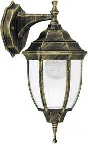Rábalux 8451 Vonkajšie Nástenné Lampy Nizza antická zlatá kov E27 1x MAX 60W IP43